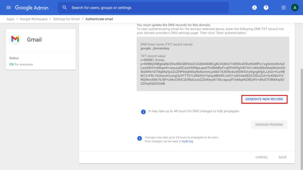 Claves de Google Workspace SPF, DKIM y DMARC
