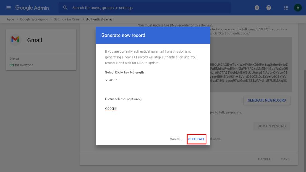 Cómo configurar las claves SPF, DKIM y DMARC de Google Workspace