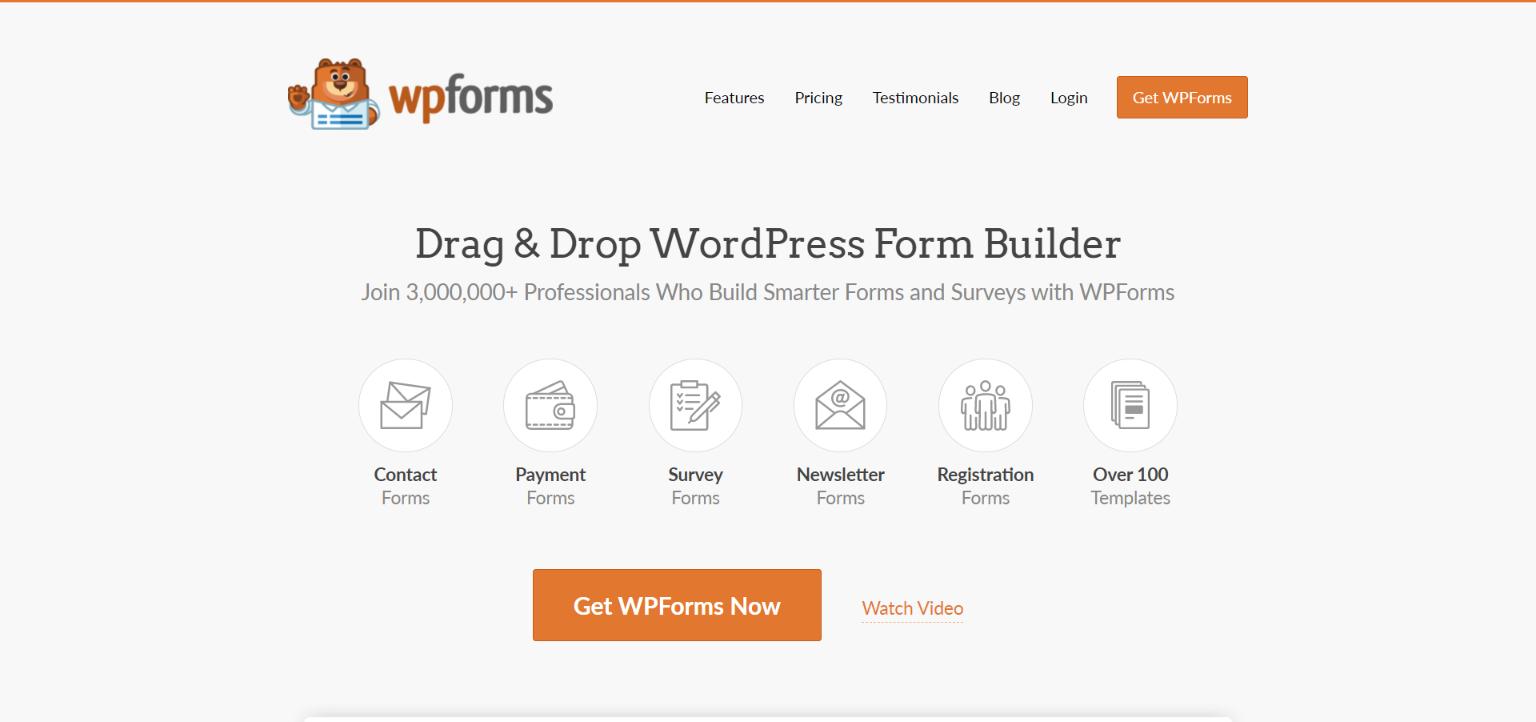 plugin de encuesta de wordpress wpforms
