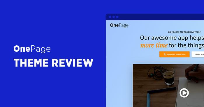 Revisión del tema de WordPress de OnePage Express